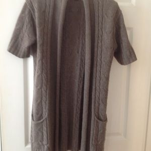 BR long open cardigan size S